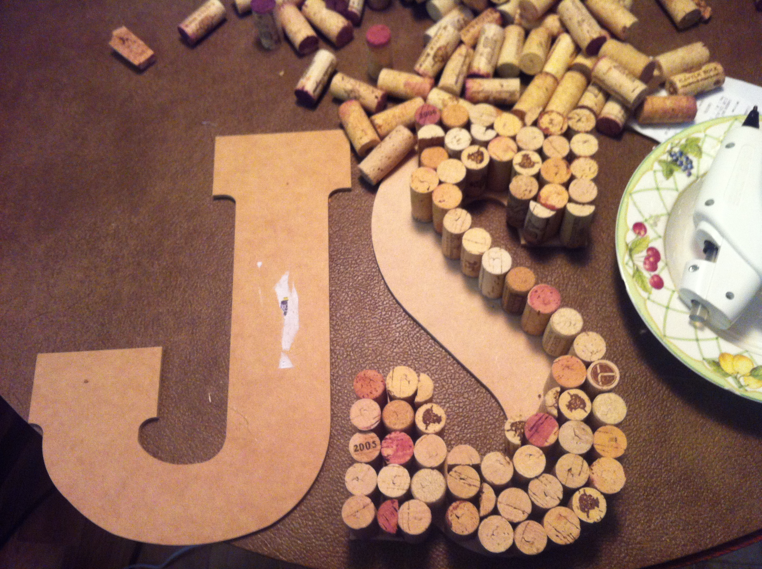 diy wine cork letter diy wine cork letter