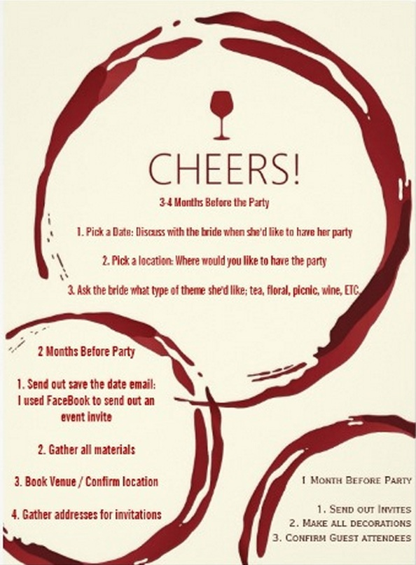 How to plan a wine themed bridal shower rwwk positivecircle filmwisefo